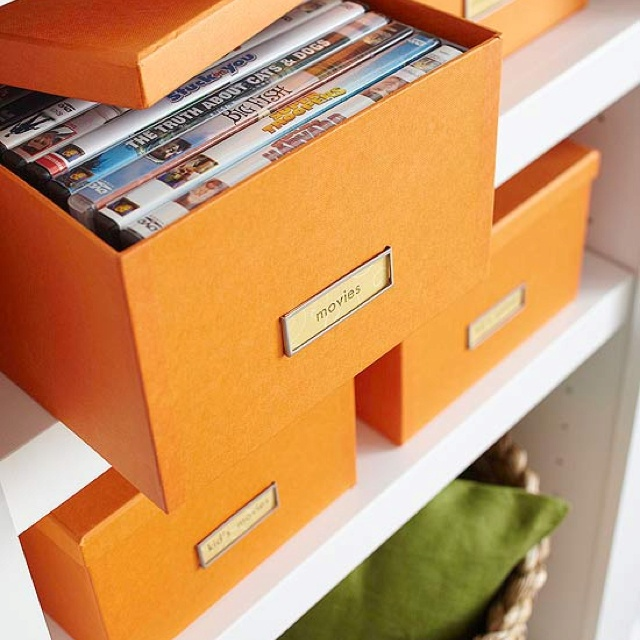 use media boxes to hide DVDs and other media related items. Don't let them ruin your interior design!