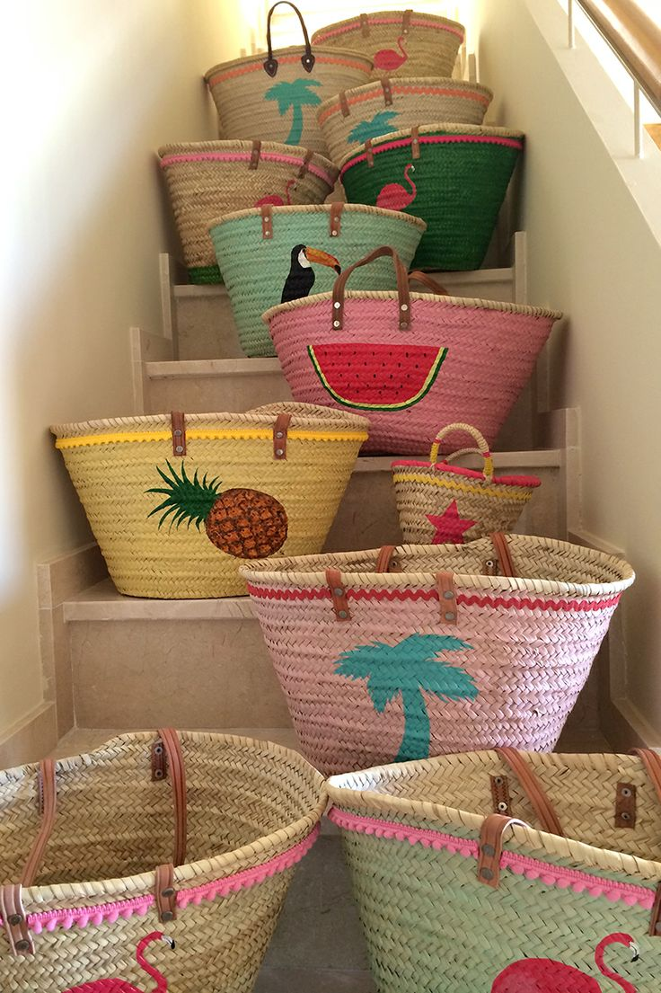 Cool & sweety summer baskets. Hand painted. Exclusive.