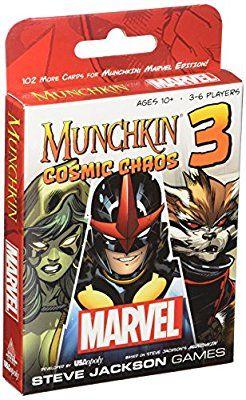 Steve Jackson Games USO11438 Munchkin Marvel 3 Cosmic Chaos Game