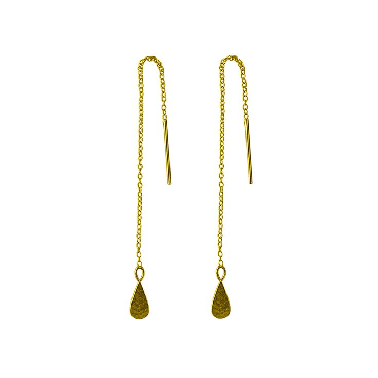 Tear Drop Thread in 22KT Yellow Gold. Shop the collection at www.murkani.com.au