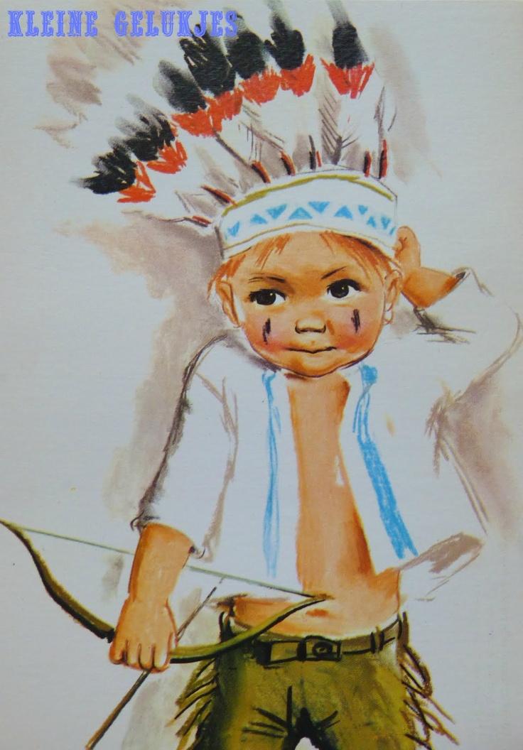 Thema indianen: illustratie