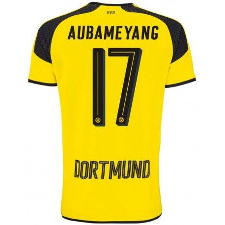 Maillot Dortmund AUBAMEYANG Ligue Des Champions 2016/2017 Officiel. Flocages Personnalisés Disponibles.
