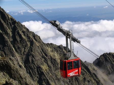 Lomnicky Stit, Lomnicky Peak, High Tatras, Slovakia. Lomnický štít is one of the highest and most visited mountain peaks in the High Tatras mountains of Slovakia.