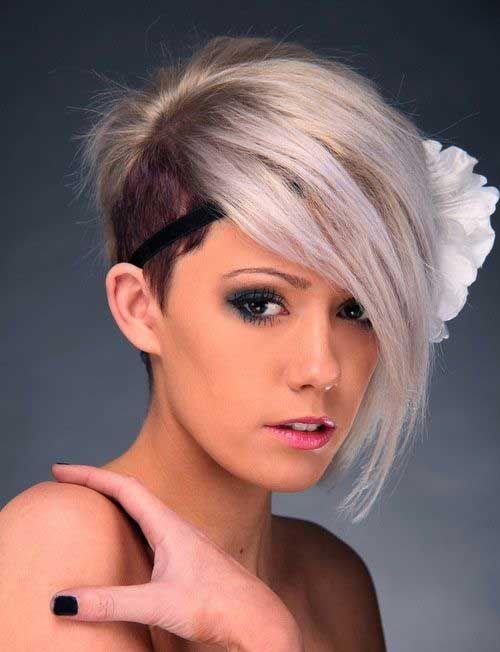 Asymmetrical Pixie Haircut Shaved Side