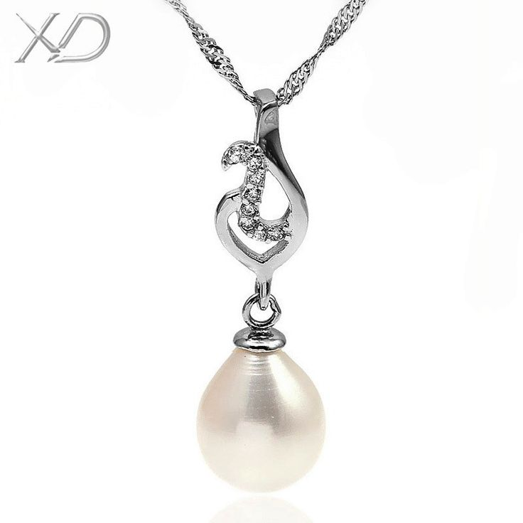 XD 925 sterling silver hot sale Women's necklace heart silver pearl wedding accessories classic  pearl pendant necklace    YP368 //Price: $20.00 & FREE Shipping // Get it here ---> http://bestofnecklace.com/xd-925-sterling-silver-hot-sale-womens-necklace-heart-silver-pearl-wedding-accessories-classic-pearl-pendant-necklace-yp368/    #Necklace