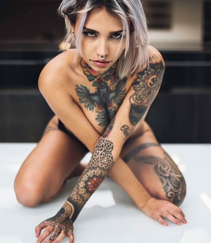 Sexy Naked Tattooed Ladies