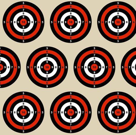 Target Practice Bulls Eye fabric by bohobear on Spoonflower - custom fabric