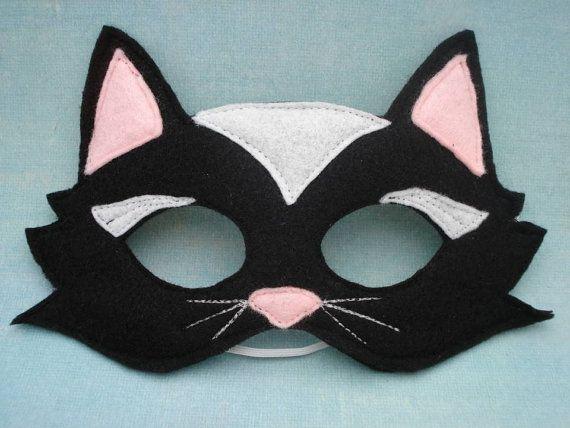 Black Cat Mask by herflyinghorses on Etsy,