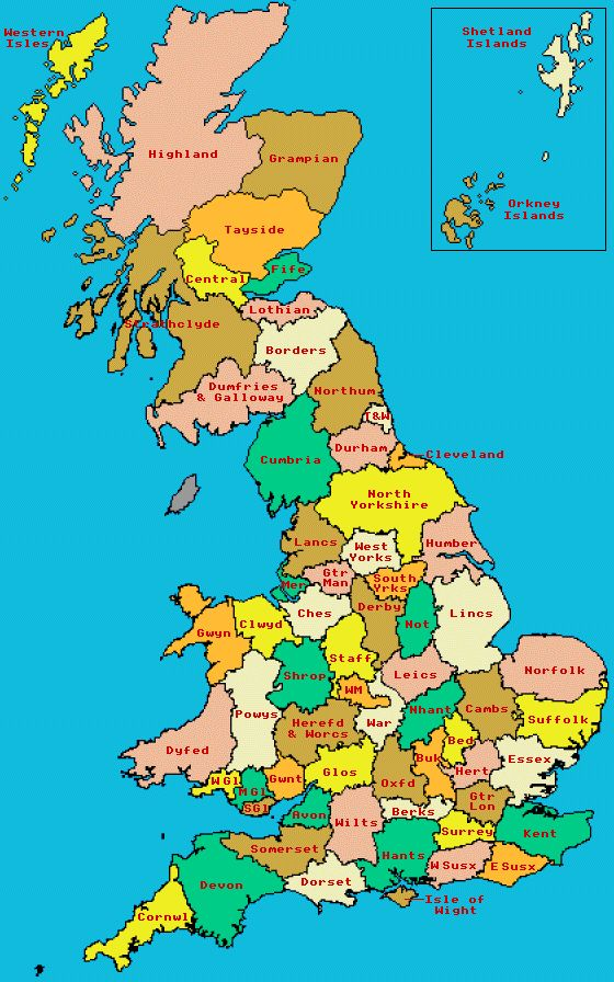 Nice Map Of England Counties Map Of Britain County Map