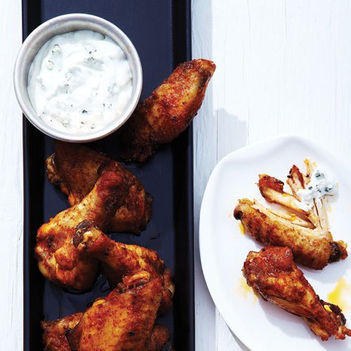 Spicy Chicken Wings with Blue Cheese Dip - Clean Eating - Clean Eating