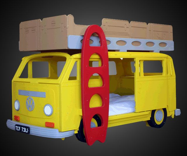 VW Camper Bunk Bed | DudeIWantThat.com Interesting concept, use different theme?
