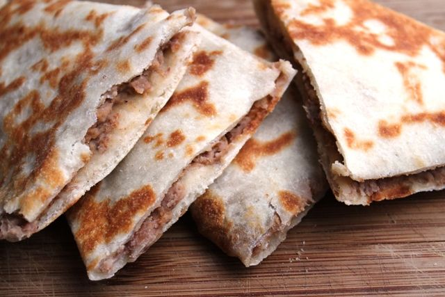 Lobiani: Georgian flatbread filled with beans and bacon.