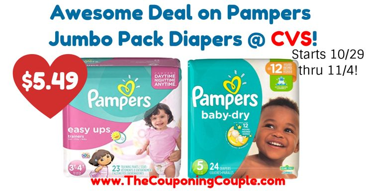 WOOHOO! Print your coupons now so you are prepared for this sale starting Sunday 10/29! Awesome Deal on Pampers Jumbo Pack Diapers @ CVS!  Click the link below to get all of the details ► http://www.thecouponingcouple.com/awesome-deal-on-pampers-jumbo-pack-diapers-cvs/ #Coupons #Couponing #CouponCommunity  Visit us at http://www.thecouponingcouple.com for more great posts!