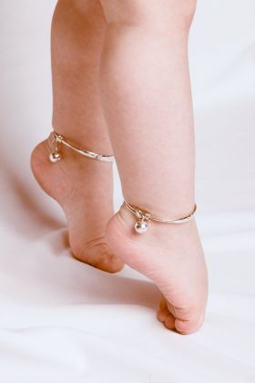 Saffron Bells baby anklets with bells