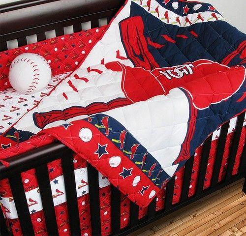 Saint Louis Cardinals St. Crib Set 5 Piece Baby Bedding Set
