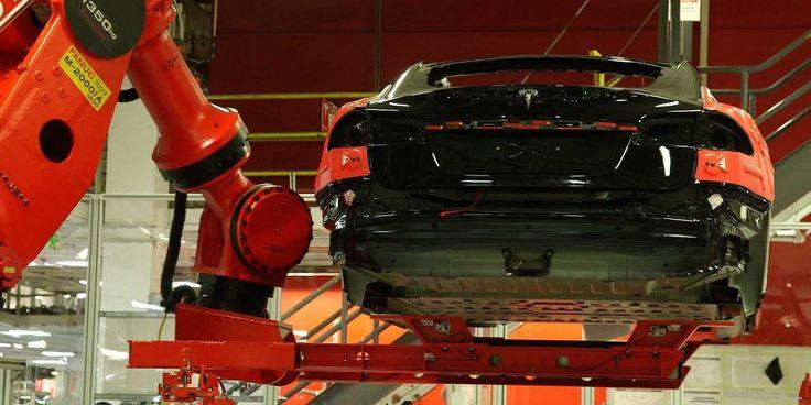 Elon Musk Tesla factory - Business Insider