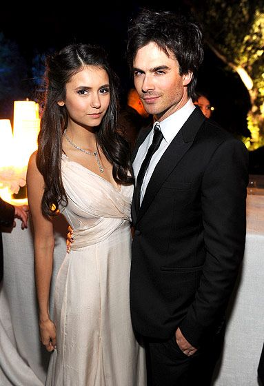 """Nina Dobrev and Ian Somerhalder posed for a joint photo at the White House Correspondents' Association Dinner in Washington, DC on April 30, 2011. """"Her desire to experience and appreciate everything around her, and chuckle and enjoy it, is great,"""" Somerhalder tells Us of his girlfriend."""