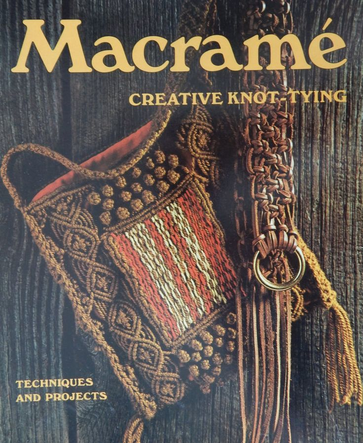 Macrame Instruction Book with Patterns/ A Sunset Book Macrame Creative Knot-Tying/ Techniques And Projects/Learn To Create Your Own Projects by RedWickerBasket on Etsy