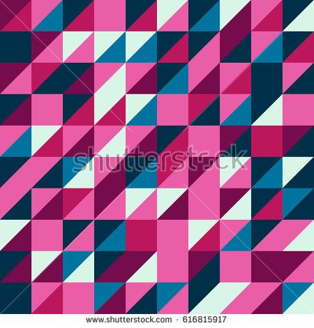 Vector pink-blue-purple abstract triangle seamless pattern texture background