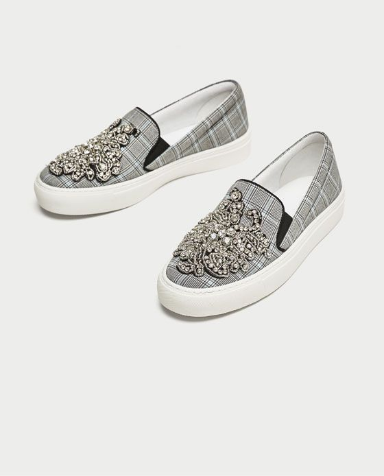 Image 3 of BEADED FABRIC SNEAKERS from Zara