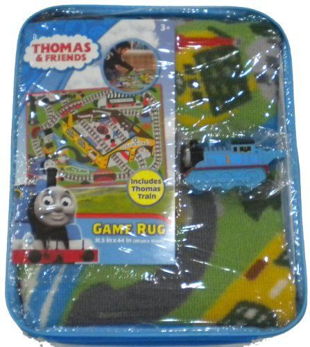 Thomas the Train Game Rug by Thomas. $33.95. Thomas The Train Game Rug Includes Thomas The Train Whistle   (Care Instruction)vacuum or shake as necessary spot clean with mild soap and damp cloth. Hang to dry