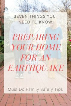 Family Safety: 7 Tips to Prepare For An Earthquake // earthquake kit // earthquake prepareadness // emergency kit //