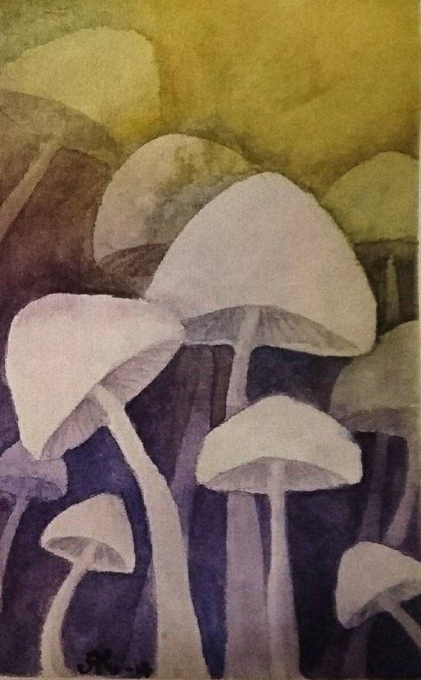 Negative painting training Watercolors