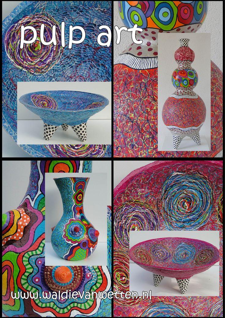 pulp art www.waldievanwetten.nl