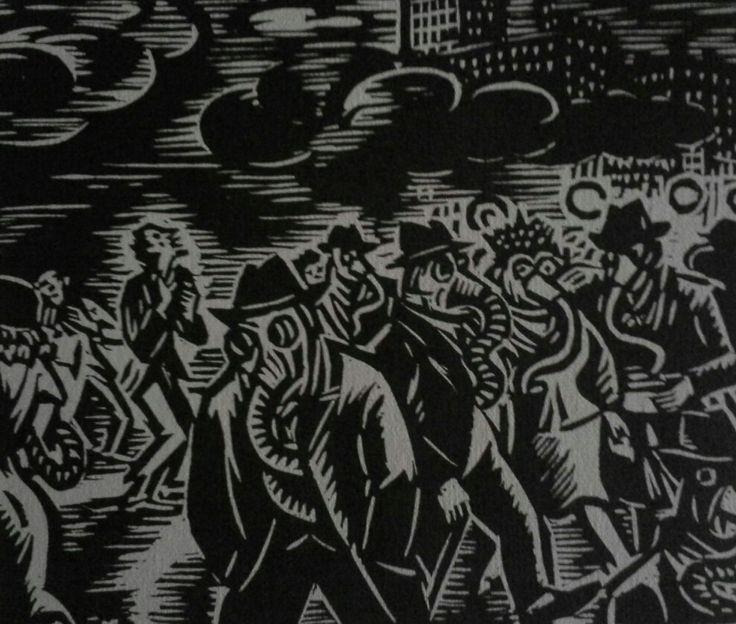 Frans Masereel (1889-1972) Fametszet  Mihály Gyűjtemény