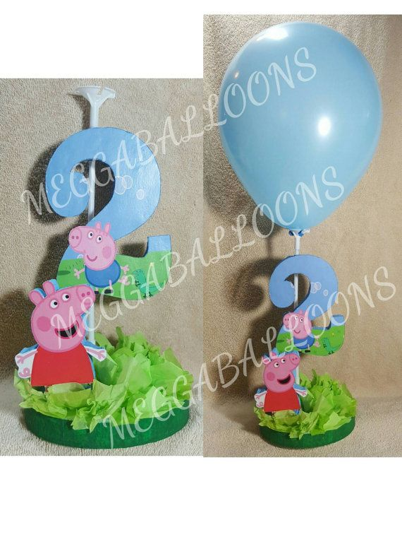 Peppa pig Party table centerpiece, balloon centerpiece, decoration Disney party,