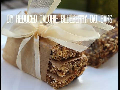 DIY: Reduced Calorie Blueberry Oat Bars Recip | Food Heaven Made Easy