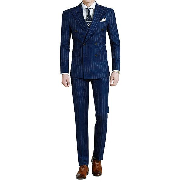 http://chicerman.com - Royal blue pinstripe tailored suit