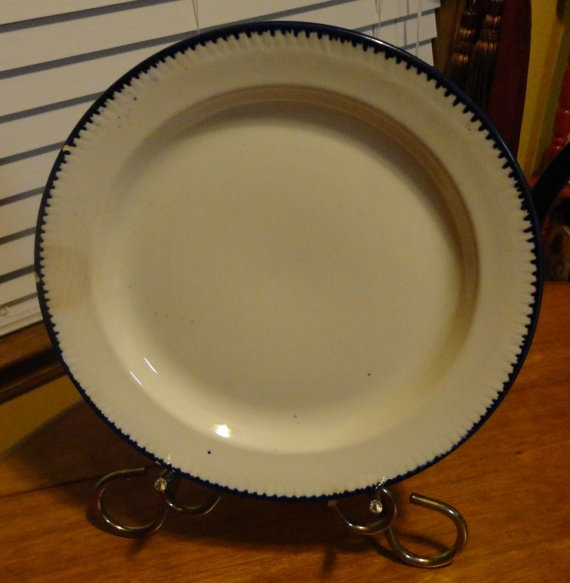 RARE Antique 1860s To 1880s  Blue Shell Edge by tennesseehills, $65.00
