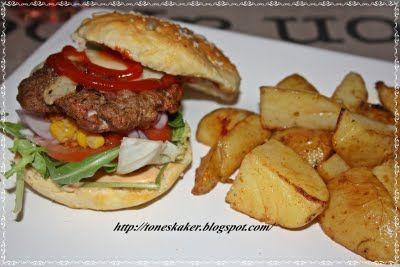 Tones kaker og andre søte saker: Hjemmelagde baconburgere!