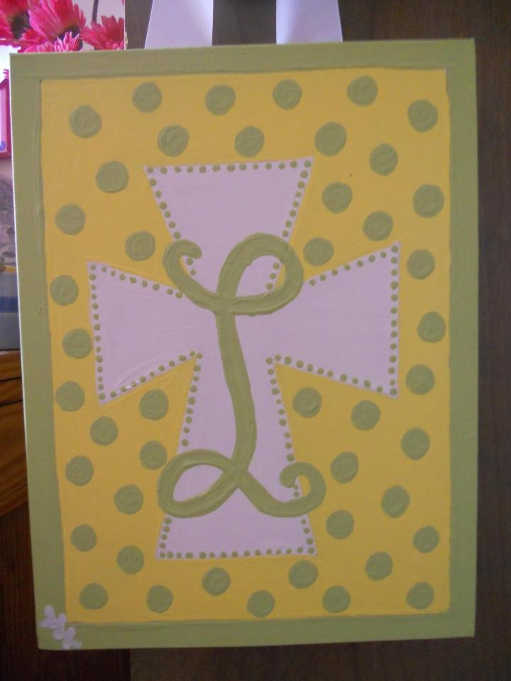 cross initial painting canvas paintings pinterest painting