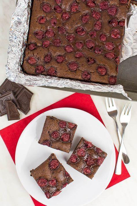 Vegane Schoko-Kirsch-Brownies