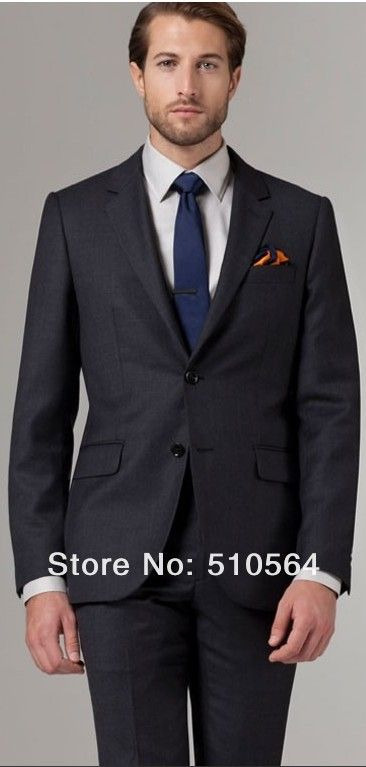 Free shipping Italian high quality worsted 100% pure Wool suit Two Buttons Coal Birdseye Suit dark grey suit (jacket+pants) -in Suits from Apparel & Accessories on Aliexpress.com | Alibaba Group