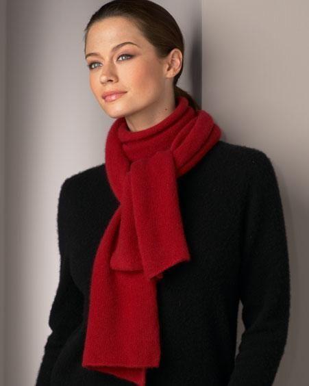 Как завязать шарф на пальто с воротником стойкой