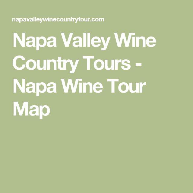 Napa Valley Wine Country Tours - Napa Wine Tour Map