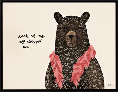 Bear dress up boa Poster