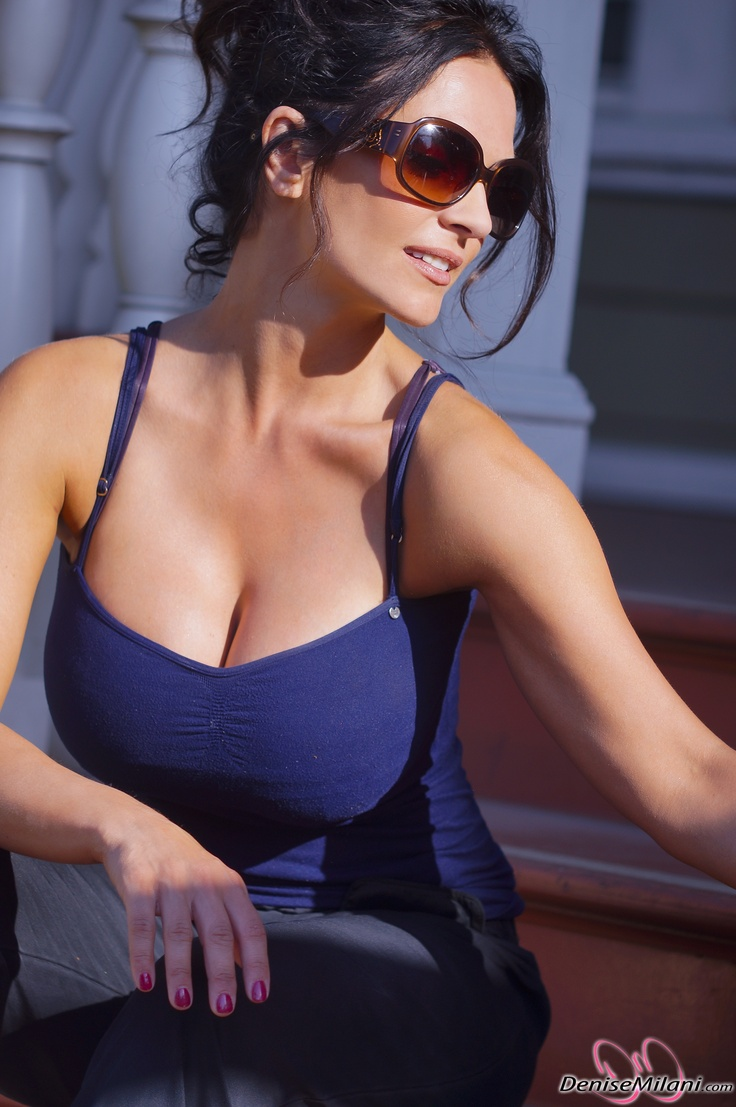 Denise Milani, preview of her newest set Candids in Blue.