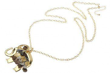 Gold Metal Chain Mixed Metal Colour Elephant Pendant  Don't Forget your discount code FB10 to get 10% off your 1st order