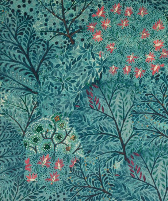 Liberty Art Fabrics Ray Cotton Velvet in Velvet Lagoon