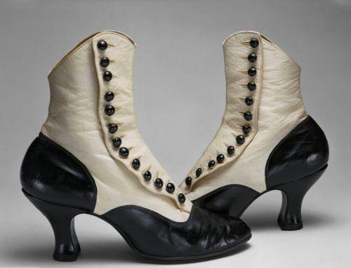 vintage lady's button shoes: