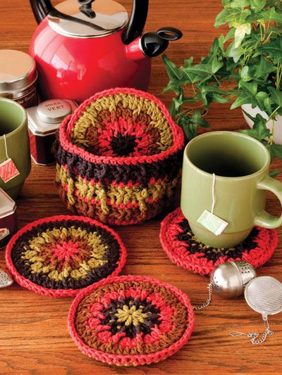 CD Coasters Crochet Pattern Download from e-PatternsCentral.com -- Recycling and crochet come together to create fun, tabletop protection.
