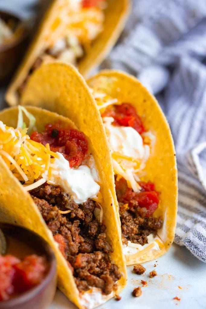 Best Classic Ground Beef Tacos Recipe Ground Beef Tacos Tacos Beef Taco Recipes Ground Beef