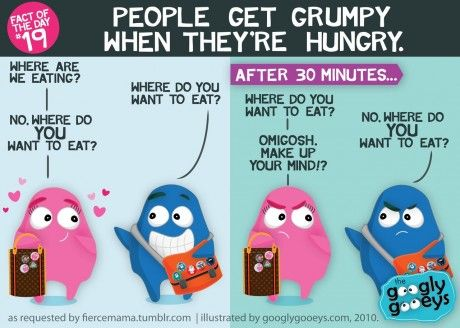 Fact of the Day #19: People get grumpy when they're hungry(Ooh. That rhymes!) Click here for m