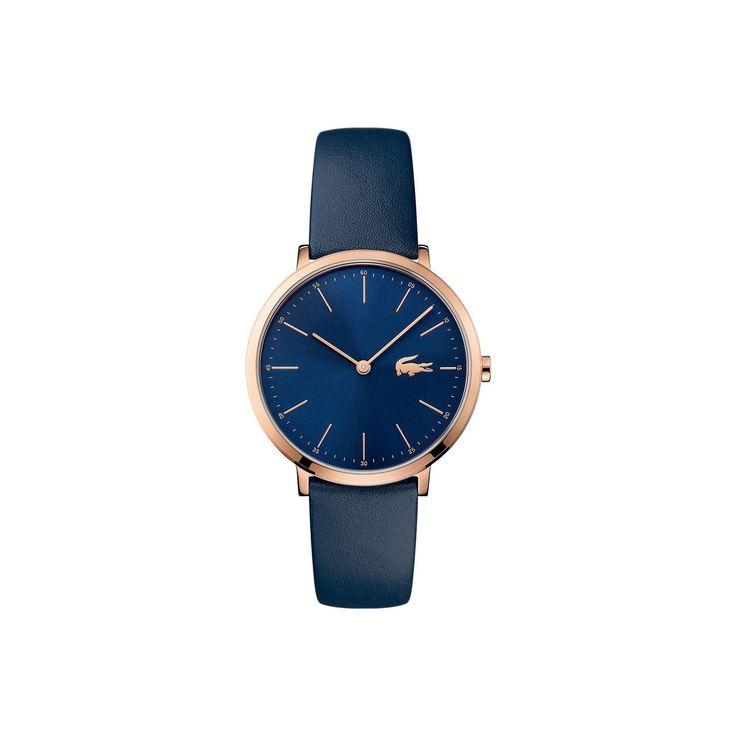 Montre Moon Femme bleue extra-plate - bracelet bleu   LACOSTE