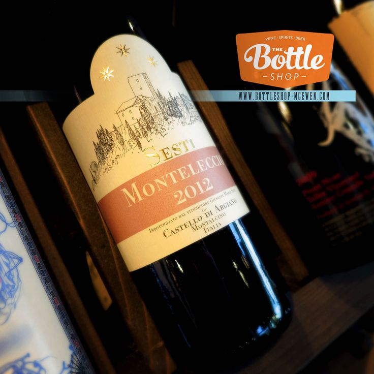 Kermit Lynch import, Sesti Monteleccio. 100% Sangiovese. An amazing Italian red. 1 sip and you're magically whisked away to a medieval hamlet in the rolling hills of Tuscany.