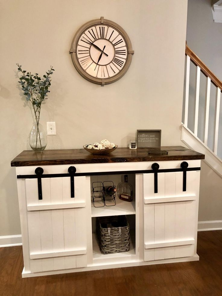 Grandy Barn Door Console Table Ana White (With images